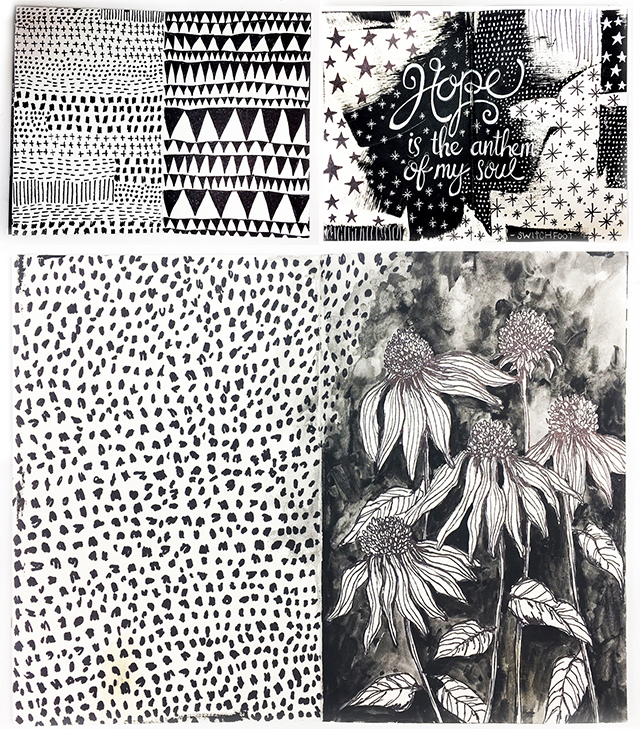 Black And White Art Journal