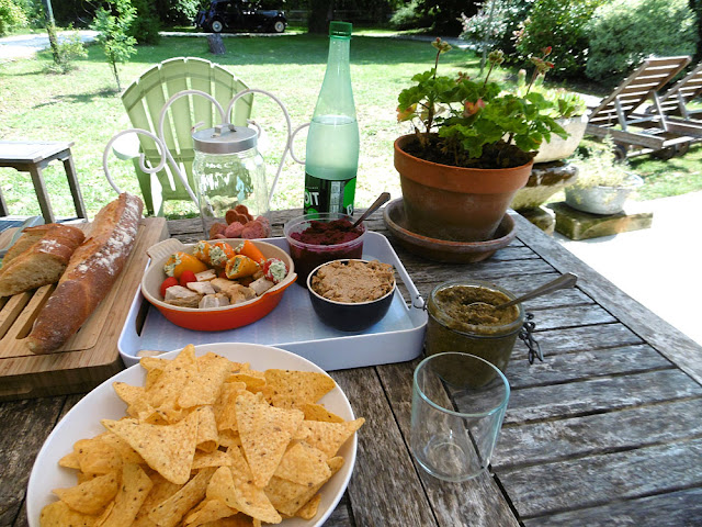 Lunch at a holiday cottage in France. Photo by Susan Walter.