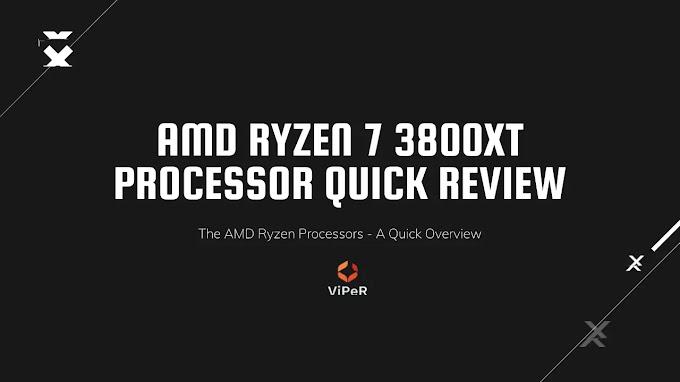 Amd Ryzen 7 3800XT Processor - Quick Review