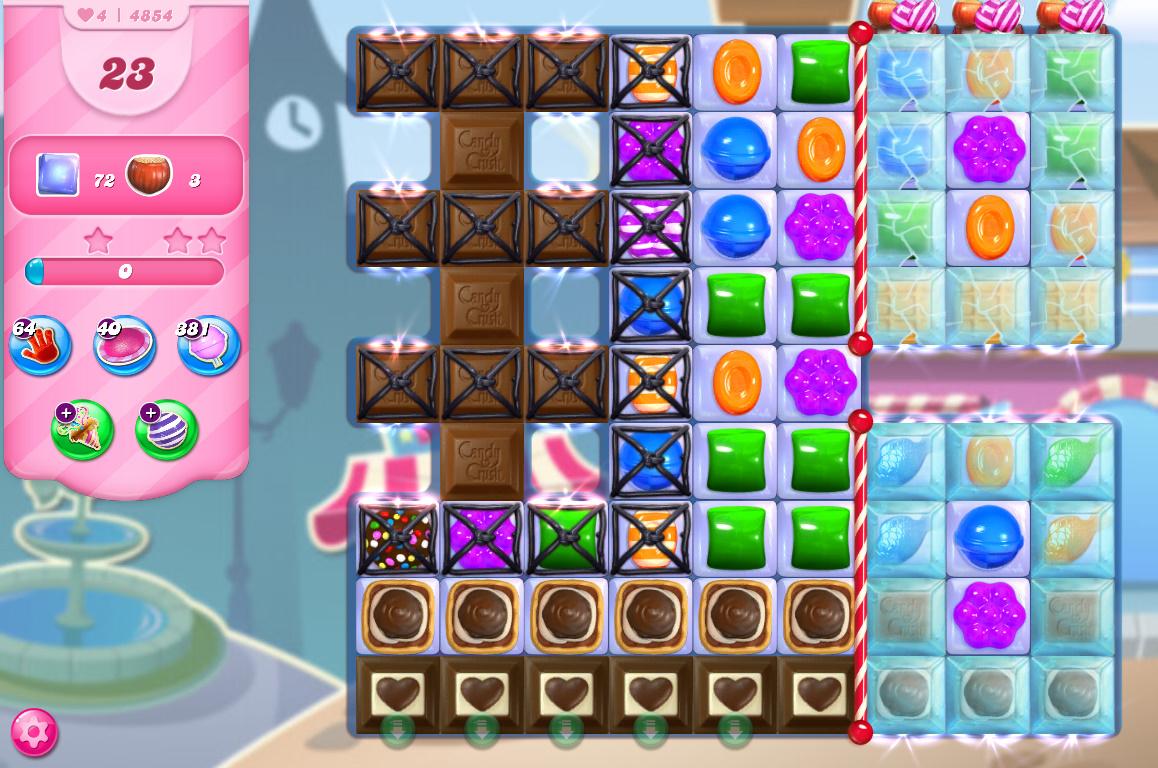 Candy Crush Saga level 4854
