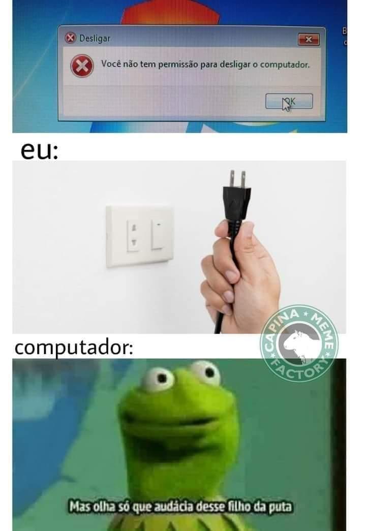 sem permissao para desligar o computador