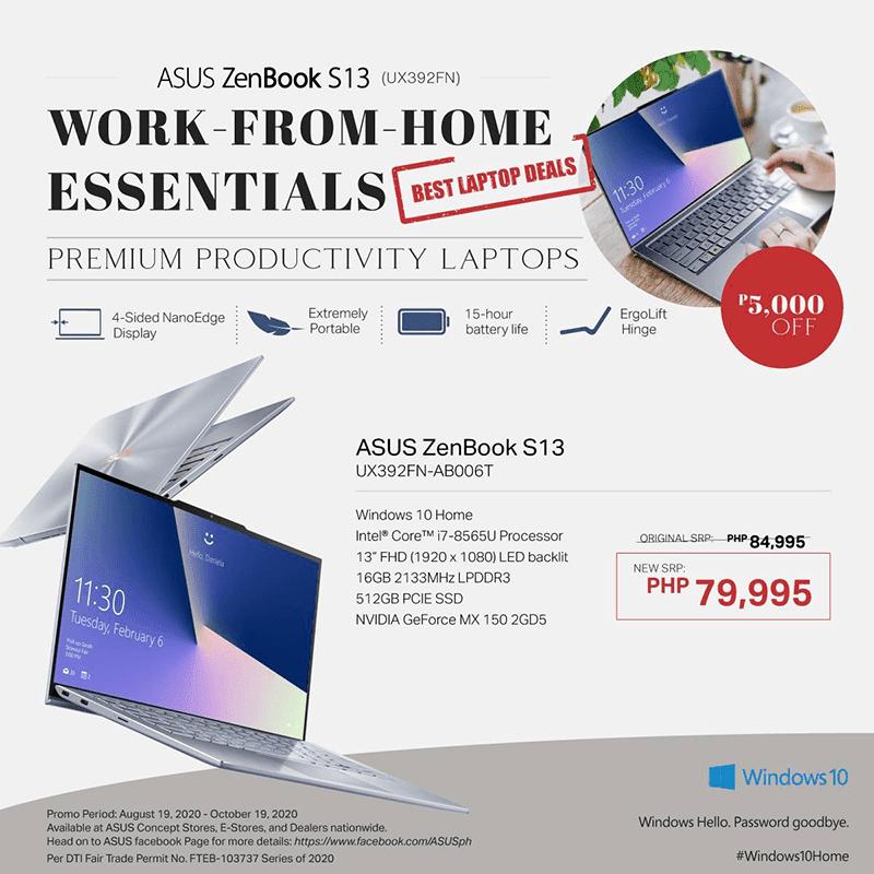 ASUS ZenBook S13 deal