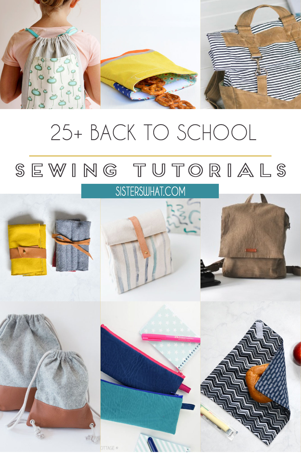 back to school easy sewing tutorials