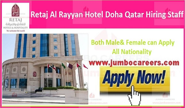 Available hotel jobs in Qatar,