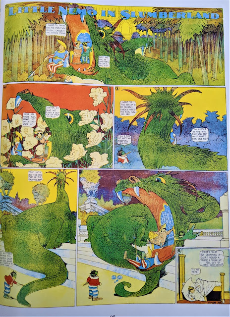 A 1-page comic strip of Little Nemo in Slumberland