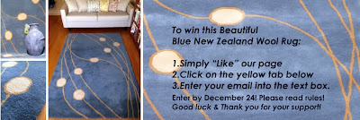 Win a 5x8 New Zealand Wool Rug