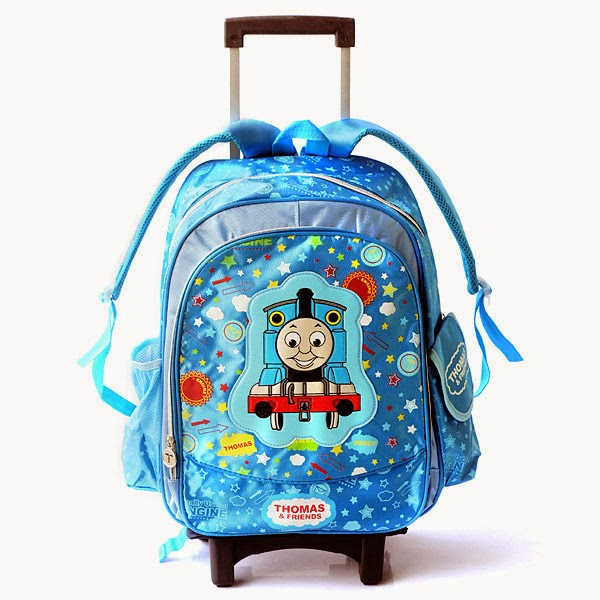 Gambar tas thomas and friends warna biru untuk anak sd