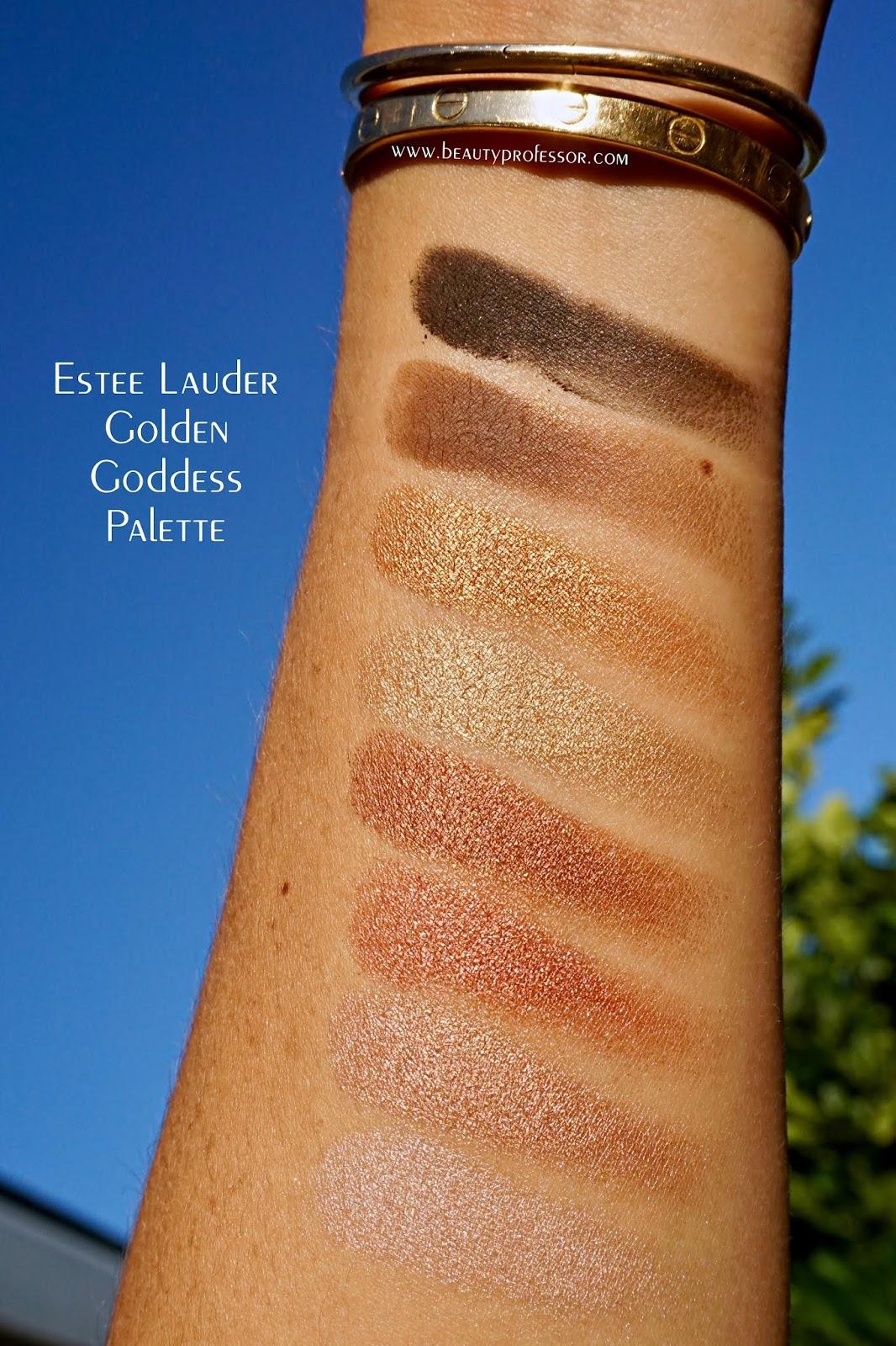 Estee Lauder Goddess Glow Palette swatches