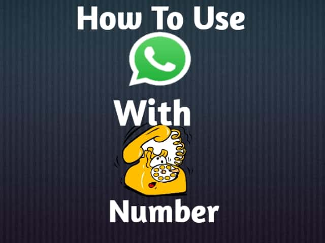 How To Use Whatsapp With Landline Number
