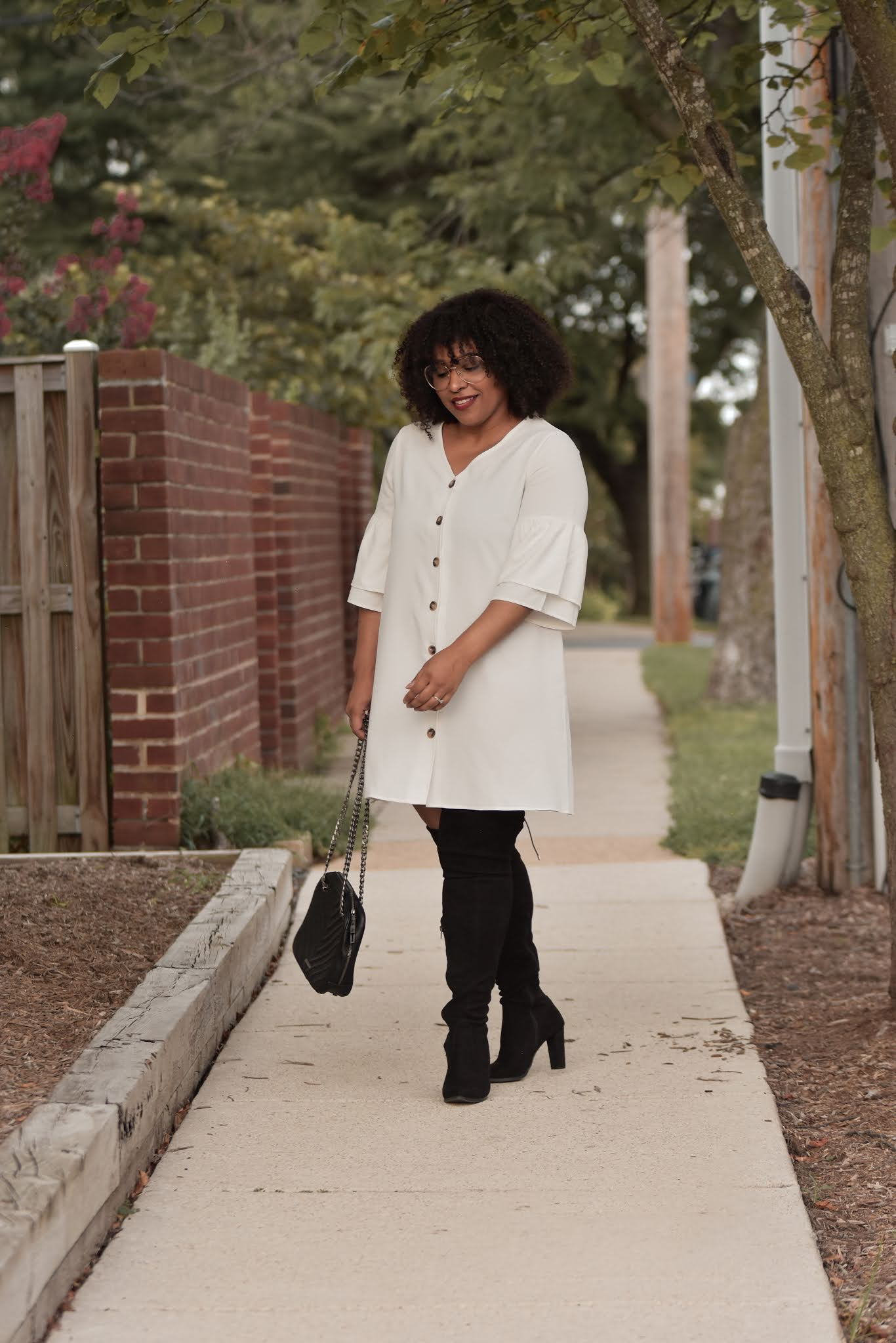 An Over The Knee Boots Fall Outfit Idea