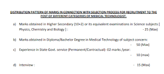 WBHRB Medical Technologist Vacancy Selection Process