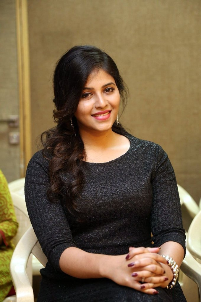 Anjali at Chitrangada Movie Success Meet Pictures Gallery