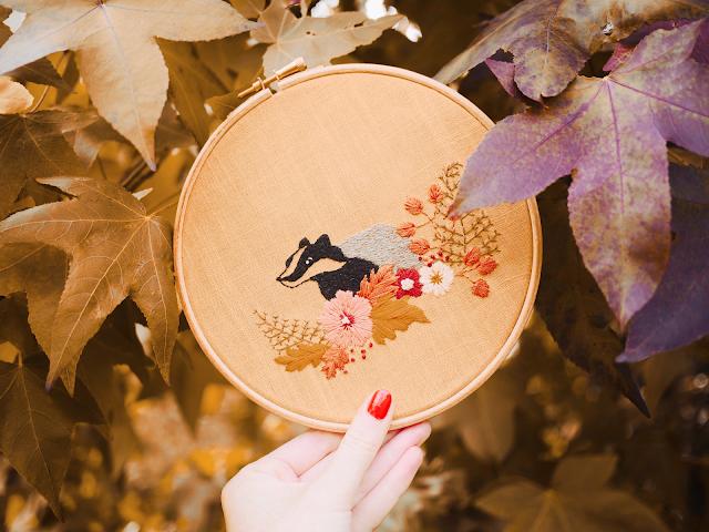 modèle de broderie automne #MarionRomainPatterns