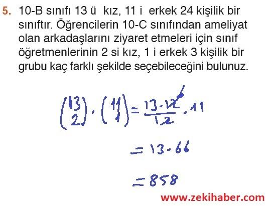 10. Sınıf MEB Yayınları Matematik 47. Sayfa Cevapları