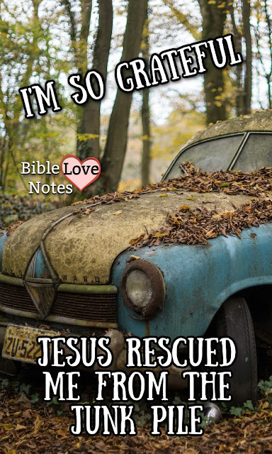 I like to rescue and re-purpose things from the junk piles of life. And I'm living proof that God does too.