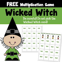 FREE Wicked Witch Multiplication Game
