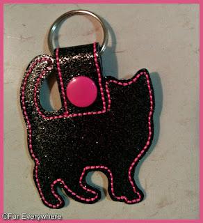 Black cat keychain.