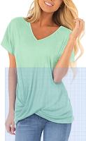 Sieanear Womens T Shirts Short Sleeve V
