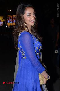 Telugu Actress Tejaswi Madivada Pos in Blue Long Dress at Nanna Nenu Na Boyfriends Audio Launch  0063.JPG