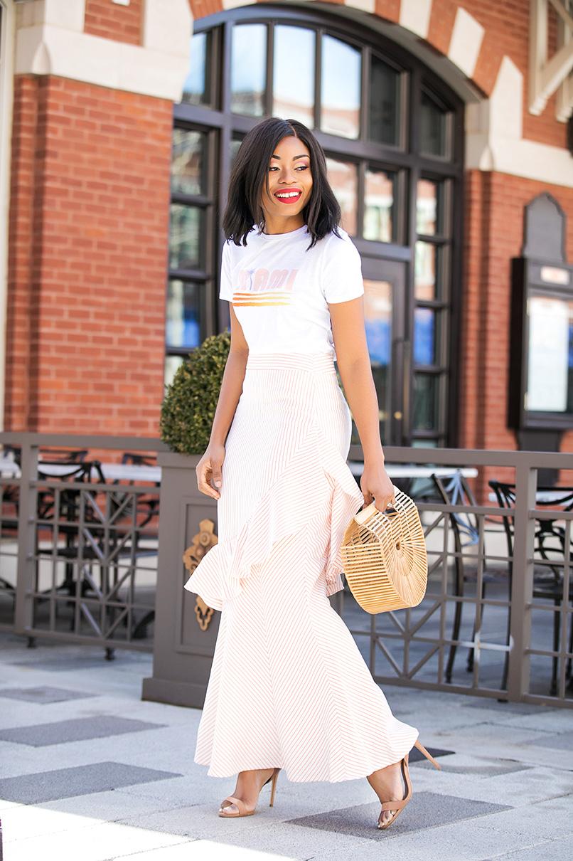 ruffled maxi skirt, www.jadore-fashion.com