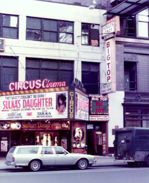 The Big Top Theater at Broadway at 49th Street, NYC, around 1984 randommusings.filminspector.com