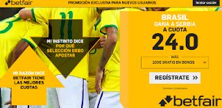 betfair supercuota victoria de Brasil a Serbia 27 junio