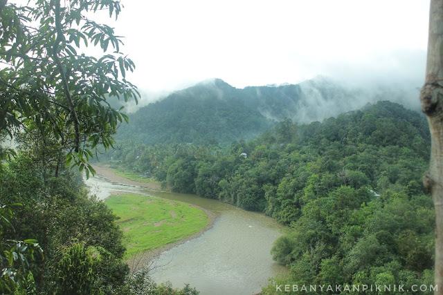 Foto Indahnya Desa Batu Sanggan Dari Rumah Pohon Berkabut di Pagi Hari
