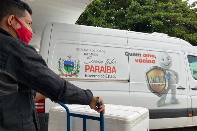Paraíba distribui mais 62 mil doses neste sábado e avança na vacinação contra Covid-19
