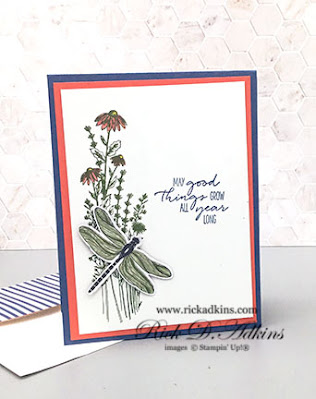 Learn how to make a fold flat calendar card using the Dragonfly Garden Bundle from Stampin' Up! click to learn more