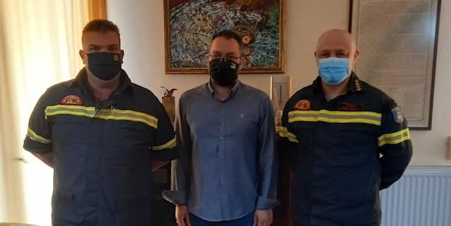Συνάντηση με την ηγεσία της Πυροσβεστικής Αργολίδας είχε ο Δήμαρχος Επιδαύρου