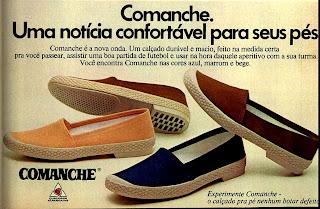propaganda calçados Comanche - 1976. moda anos 70; propaganda anos 70; história da década de 70; reclames anos 70; brazil in the 70s; Oswaldo Hernandez