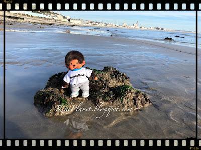 kiki monchhichi plage coucher soleil  monchichi toys life dolls