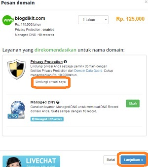 biaya privacy protection rumahweb
