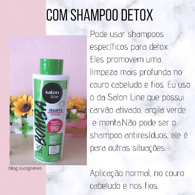 shampoo detox salon line