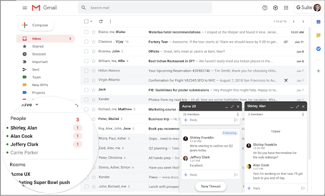 Migrate your users from classic Hangouts to Google Chat, now available in Gmail 1