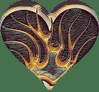 cuore e fiamme