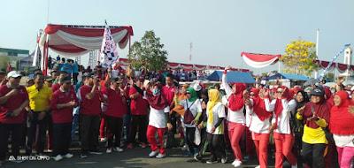 Puncak HKN ke-55, Pemkab Pringsewu Gelar Jalan Sehat