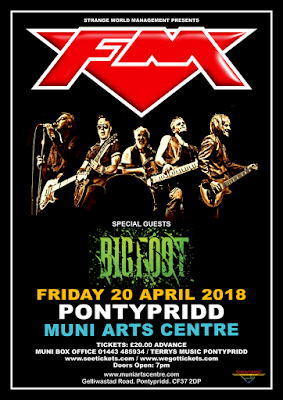 FM / Bigfoot at Pontypridd Muni - 20 April 2018 - poster