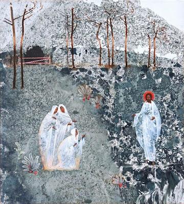 Christ and myrrhbearers, icon made by Ivanka Demchuk