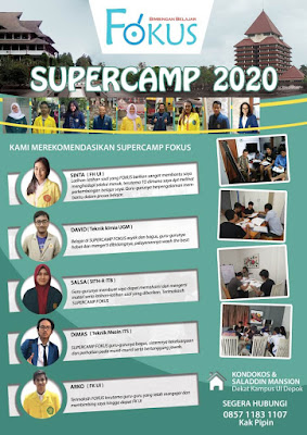 Bimbel karantina Supercamp SBMPTN 2020 Menginap di Apartemen Saladin Square