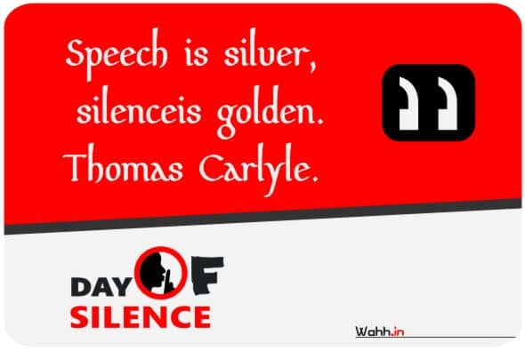 Silence Day Slogans