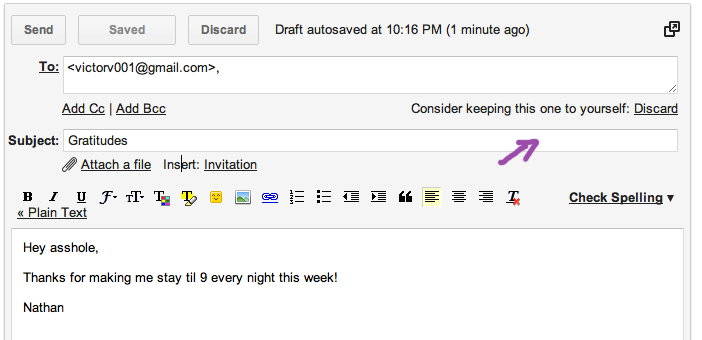 On & True: gmail's