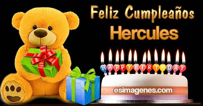 Feliz cumpleaños Hercules