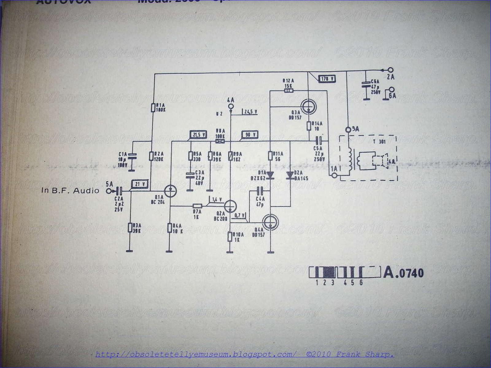 Obsolete Technology Tellye Autovox Tvc2609 Spazio 99tc Chassis Hobby Circuit Cmos Inverters Form 125khz Oscillator 121 Power Supply Constant Voltage Converter Employing Thyristor