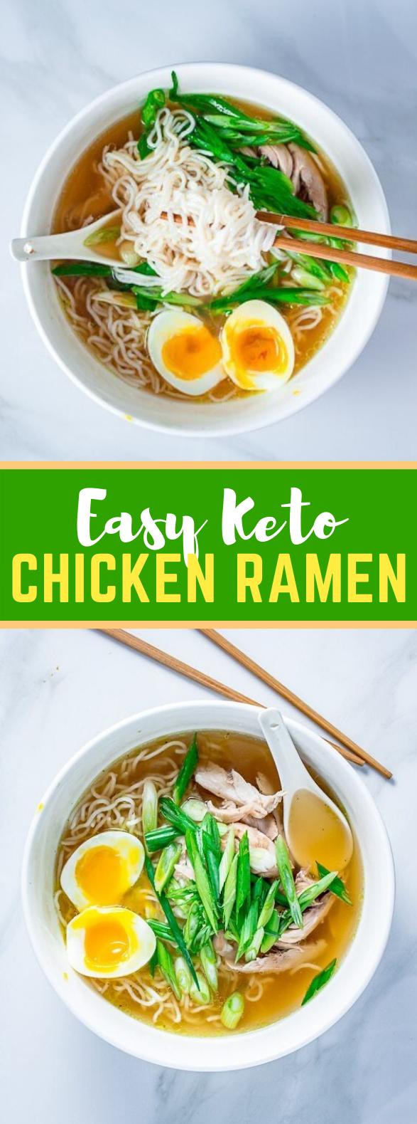 EASY KETO CHICKEN RAMEN #japanesefood #healthy