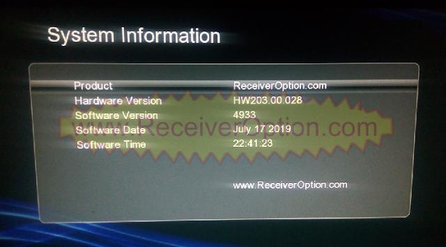 GX6605S HW203.00.028 TEN SPORTS & SERVER OPTION OK NEW SOFTWARE