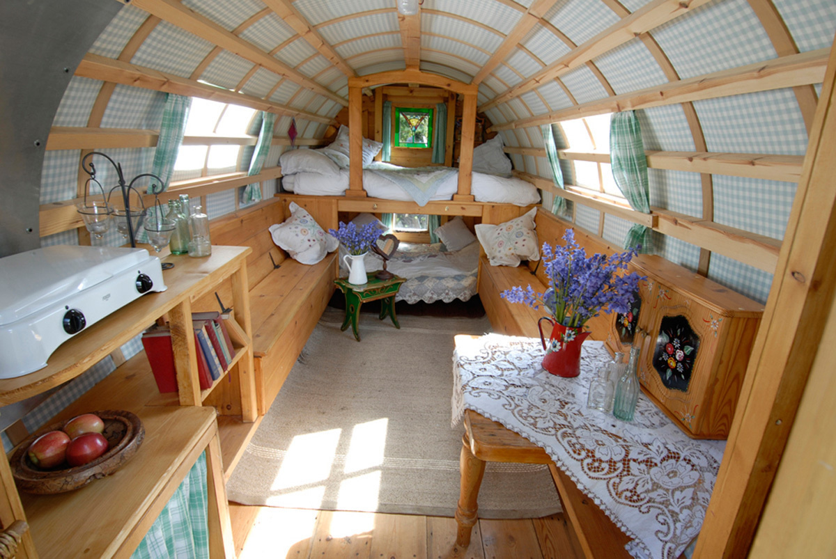 The basic structure for the gypsy caravans starts at £15,000 ($21,600), and making it your own? Well, that's priceless. - These Gypsy Caravans Are All Your Hippy-Dreams Come True, Especially The Inside.