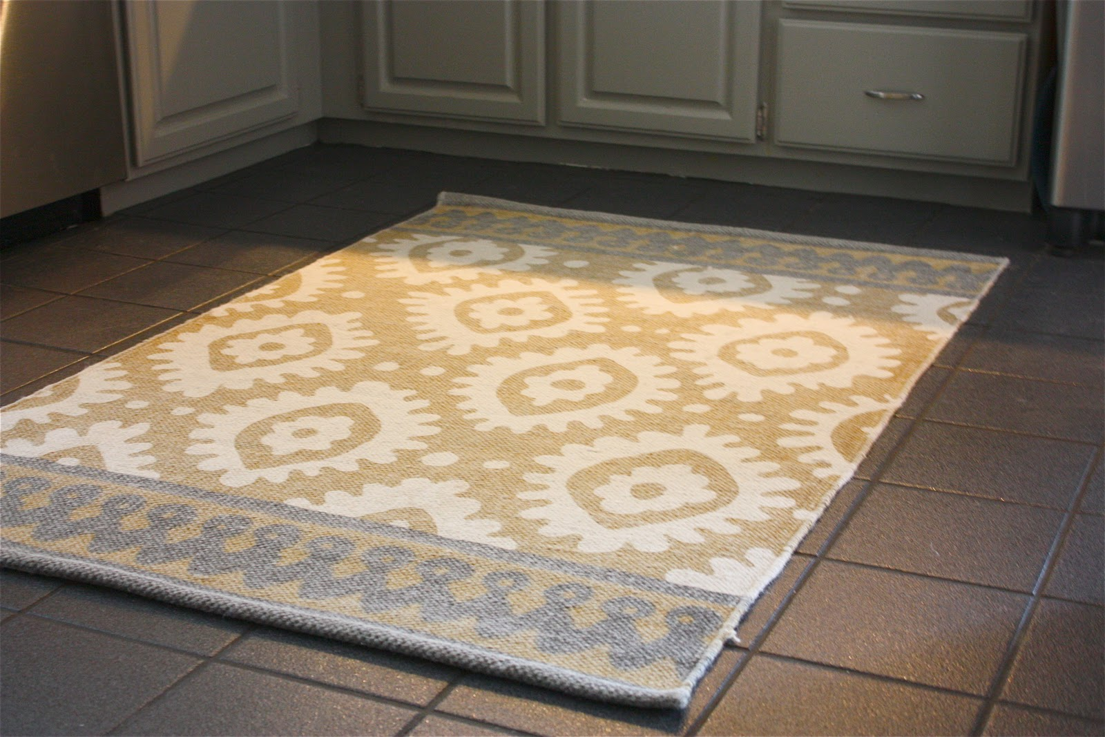 gray kitchen mat corner unit table the yellow cape cod client project before and after