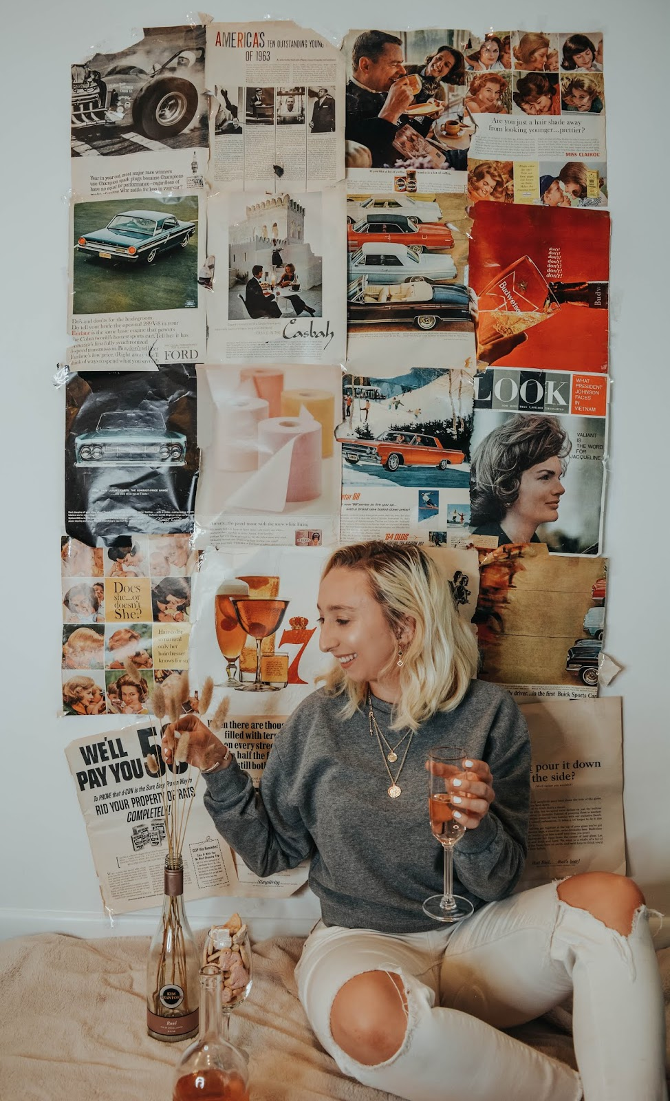 Testing Viral Tik Tok Photo Shoots: The Newspaper Collage Wall