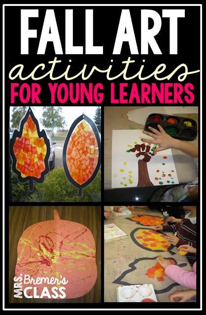 Three fall art activity ideas for Kindergarten